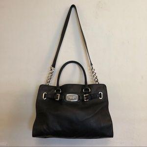 Michael Kors black Hamilton leather handbag